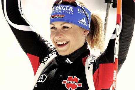 Magdalena Neuner für Adidas jubeln 460x306 - Sports