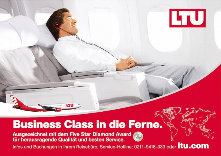 LTU Business Class 751x531 - Advertising